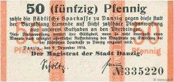 50 Pfennig DANTZIG  1916 P.06 NEUF