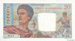 20 Francs TAHITI  1954 P.21b TTB+