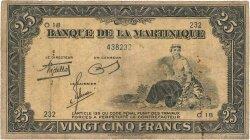 25 Francs type Américain MARTINIQUE  1945 P.17 pr.TB