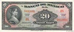 20 Pesos MEXIQUE  1967 P.054m SPL