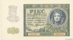 5 Zlotych POLOGNE  1941 P.101 NEUF