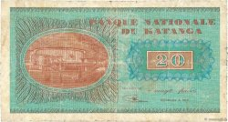 20 Francs KATANGA  1960 P.06a B à TB
