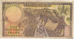 500 Francs CONGO BELGE  1957 P.34 TB