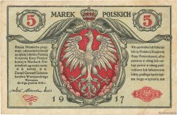 5 Marek POLOGNE  1917 P.010 TTB