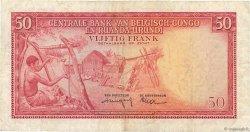 50 Francs CONGO BELGE  1959 P.32 pr.TTB