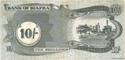 10 Shillings BIAFRA  1968 P.04 TTB