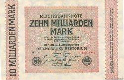 10 Milliards Mark ALLEMAGNE  1923 P.117c SPL+
