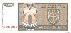 20 000 000 Dinara CROATIE  1993 P.R13a NEUF
