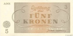 5 Kronen ISRAËL Terezin 1943 WW II.703 NEUF