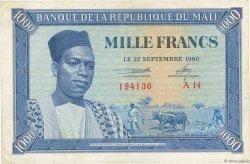 1000 Francs MALI  1960 P.04 TTB