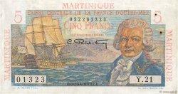 5 Francs Bougainville MARTINIQUE  1946 P.27a SUP+