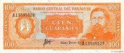 100 Guaranies PARAGUAY  1963 P.199b TTB+