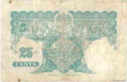 25 Cents MALAYA  1940 P.03 B