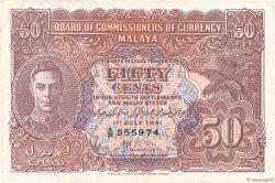 50 Cents MALAYA  1941 P.10b TTB+