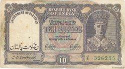 10 Rupees PAKISTAN  1948 P.03 pr.TTB