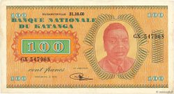 100 Francs KATANGA  1960 P.08a TTB+