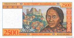 2500 Francs - 500 Ariary MADAGASCAR  1998 P.81 pr.NEUF