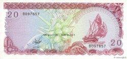 20 Rufiyaa MALDIVES  1987 P.12b TTB