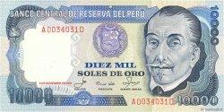10000 Soles de Oro PÉROU  1981 P.120 SPL
