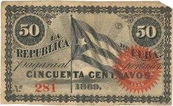 50 Centavos CUBA  1869 P.054 TTB