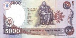 5000 Pesos Oro COLOMBIE  1987 P.435 NEUF
