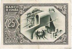 25 Pesetas ESPAGNE  1937 P.S563(g) TTB+
