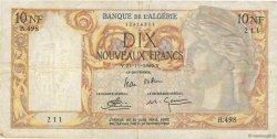 10 Nouveaux Francs type 1946 modifié 1959 ALGÉRIE  1960 P.119a TB
