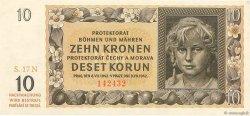 10 Korun BOHÊME ET MORAVIE  1942 P.08a pr.NEUF