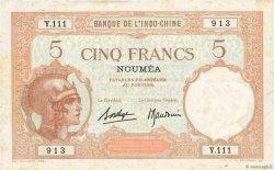 5 Francs NOUVELLE CALÉDONIE  1940 P.36b TTB
