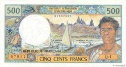 500 Francs TAHITI  1977 P.25b1 TTB+
