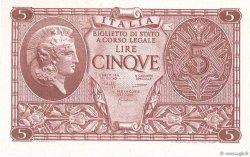 5 Lire ITALIE  1944 P.031c NEUF