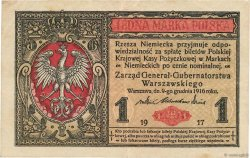 1 Marka POLOGNE  1917 P.008 TTB