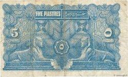 5 Piastres ÉGYPTE  1918 P.162 TB
