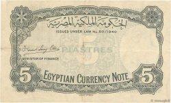 5 Piastres ÉGYPTE  1940 P.165a TTB