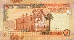 5 Dinars JORDANIE  2002 P.35a NEUF