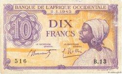 10 Francs AFRIQUE OCCIDENTALE FRANÇAISE (1895-1958)  1943 P.29 pr.TB