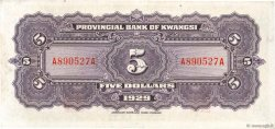 5 Dollars CHINE  1929 PS.2340r SPL