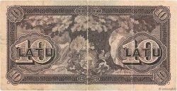 10 Latu LETTONIE  1939 P.24e TB