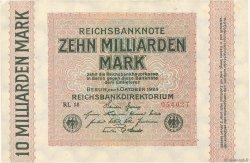 10 Milliards Mark GERMANY  1923 P.117c XF