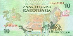 10 Dollars COOK ISLANDS  1992 P.08a UNC