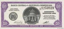 50 Centavos Oro RÉPUBLIQUE DOMINICAINE  1961 P.089a pr.NEUF