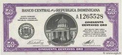 50 Centavos Oro RÉPUBLIQUE DOMINICAINE  1961 P.089a aUNC