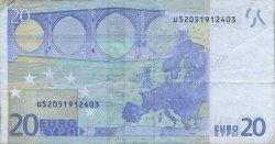 20 Euro EUROPE  2002 €.120.21 TB