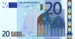 20 Euros IRLANDE  2002 €.120.07 SUP+