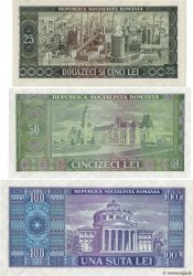 Lot de 3 Billets ROUMANIE  1966 P.LOT SPL+