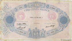 500 Francs BLEU ET ROSE FRANCE  1937 F.30.38 B