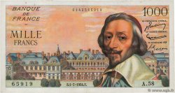 1000 Francs RICHELIEU FRANCE  1954 F.42.06 XF-