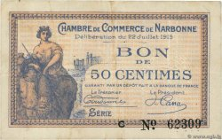 50 Centimes  FRANCE regionalismo e varie Narbonne 1915 JP.089.01