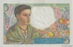5 Francs BERGER FRANCE  1943 F.05.05 SPL+