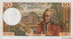 10 Francs VOLTAIRE FRANCE  1969 F.62.38 XF